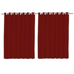 Cortina em Voil com Forro Blackout Vermelho 200x260cm - Deca