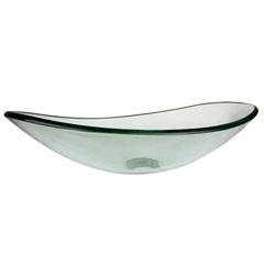 Cuba de Apoio Oval 47x30x12,50cm Salina Transparente - Casanova