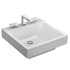 Cuba de Apoio para Banheiro Quadrada Branco Gelo com 50cm Ref.: L.98  - Deca