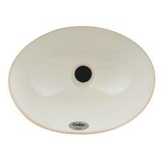 Cuba de Embutir Oval 30x39cm Branca - Celite