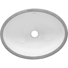 Cuba de Embutir Oval 40x30cm Branca - Icasa
