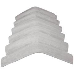 Cumeeira Normal em Fibrocimento 10mm 110x50cm Cinza - Brasilit