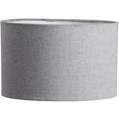 Cúpula Cilíndrica Lisa Cinza 24cm - LS Ilumina