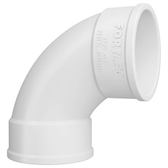 Curva 90° em Pvc para Esgoto Curta 40mm Branca - Fortlev