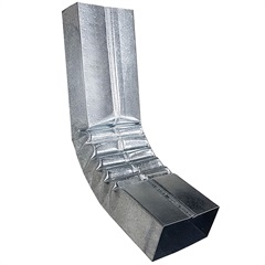 Curva para Calha Retangular Galvanizada 28cm - Calha Forte