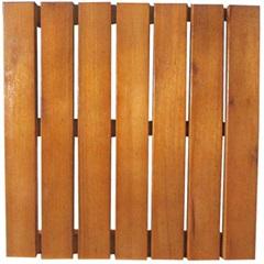 Deck em Madeira Eucalipto 50x50cm Natural - Casa UD