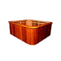 Deck em Madeira para Banheira Space Spacril Ofino 95x268cm - Ouro Fino