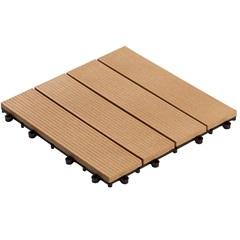 Deck em Plástico Sustentável Frisado 30x30cm Cumaru