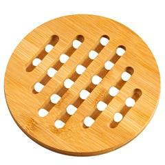 Descanso de Panela Redondo Basic Bamboo 15cm Bege - Casa Etna