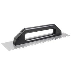 Desempenadeira em Aço Dentada Cabo Plástico 10x10mm 48x12cm - Cortag