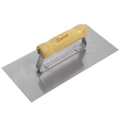 Desempenadeira em Aço Lisa Cabo de Madeira 25,6x12cm - Cortag