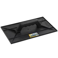 Desempenadeira em Plástico Corrugado Preta 18x30cm - Castor