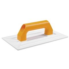 Desempenadeira Plástica Cabo Plástico para Grafiato Branca 27x14cm - Cortag