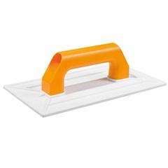 Desempenadeira Plástica Cabo Plástico para Grafiato Branca 30x18cm - Cortag