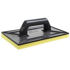 Desempenadeira Plástica com Espuma Cabo Plástico Preta 30x18cm - Cortag