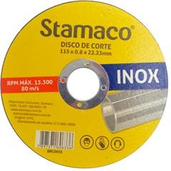 Disco de Corte para Inox 115x8x22,23mm - Stamaco