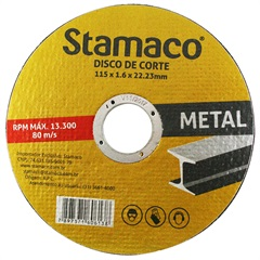 Disco de Corte para Metal 115x22,23mm - Stamaco