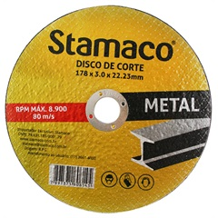 Disco de Corte para Metal 178x22,23mm - Stamaco