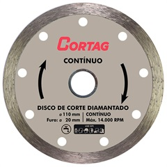Disco Diamantado Contínuo 110mm - Cortag