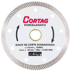 Disco Diamantado Porcelanato 110mm - Cortag