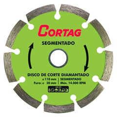 Disco Diamantado Segmentado 110mm - Cortag
