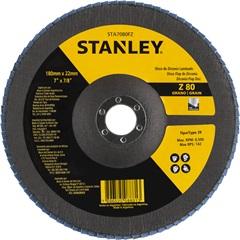 Disco Flap 7x7/8 com Grão Zirconia 80 - Stanley