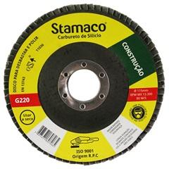 Disco Flap para Construção 115x22,23mm Grão 220 - Stamaco