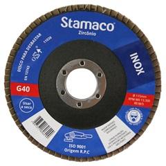 Disco Flap para Inox 115x22,23mm Grão 40 - Stamaco