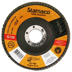 Disco Flap para Metal 115x22,23mm Grão 120 - Stamaco
