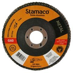 Disco Flap para Metal 115x22,23mm Grão 60 - Stamaco