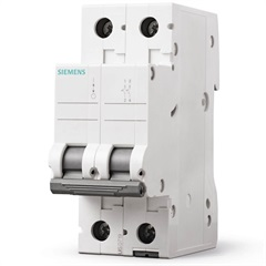 Disjuntor Bipolar Curva C 16a Branco - Siemens