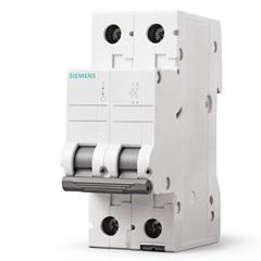 Disjuntor Bipolar Curva C 50a Branco - Siemens
