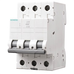 Disjuntor Din 3ka Curva C 25a 3p Branco - Siemens