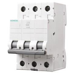 Disjuntor Din 3ka Curva C 40a 3p Branco - Siemens