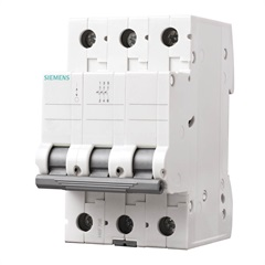 Disjuntor Din 3ka Curva C 50a 3p Branco - Siemens