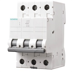 Disjuntor Din 3ka Curva C 63a 3p Branco - Siemens