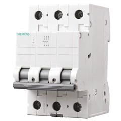 Disjuntor Din 3ka Curva C 80a 3p Branco - Siemens