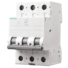 Disjuntor Tripolar Curva C 20a Branco - Siemens
