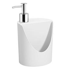 Dispenser para Detergente E Esponja Romeu E Julieta de 600ml Branco - Coza