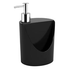Dispenser para Detergente E Esponja Romeu E Julieta de 600ml Preto - Coza