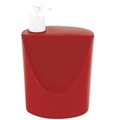 Dispenser para Detergente E Esponja Romeu E Julieta de 600ml Vermelho - Coza