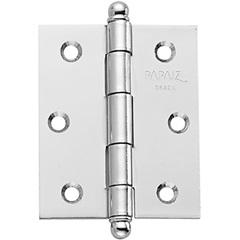 Dobradiça para Porta em Aço sem Anel 3.1/2''X3 Cromo Acetinado - Papaiz