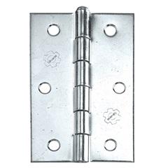 Dobradiça para Portas em Aço 3x2.1/2'' Cromada - Silvana