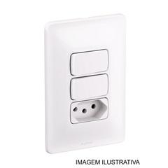 Dois Interruptores Paralelos Mais Tomada 4x2 10ampéres 250v 680115 - Pial Legrand