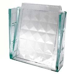 Elemento Vazado em Vidro Diamante 20x20cm - Ibravir