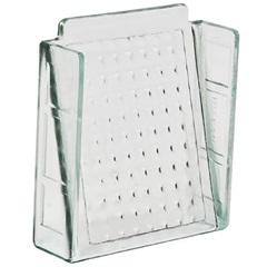 Elemento Vazado em Vidro Xadrez 20x20cm Transparente