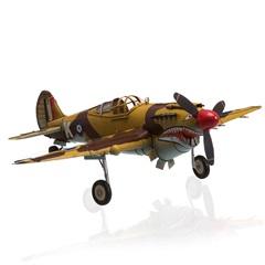 Enfeite em Ferro 1941 Curtiss Hawk 81a Marrom E Amarelo - Casa Etna