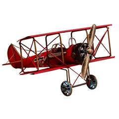 Enfeite em Ferro Avião 13,5x31cm Vermelho - Casa Etna