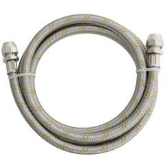 Engate Flexível Aço Inox para Gás 1/2'' com Adaptador 3/8'' - Blukit