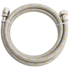 Engate Flexível em Aço Inox para Gás com Adaptador 2m - Blukit